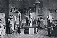 Life-class at the London art school