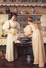 Louise Jopling, Blue and White, 1896